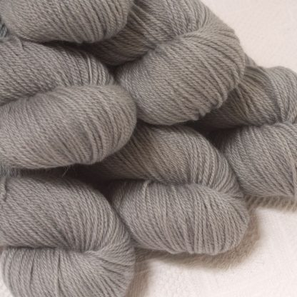 Seagull - Light grey Bluefaced Leicester DK (double knit) yarn hand-dyed by Triskelion Yarn