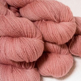 Ash Rose - Light greyish pink Bluefaced Leicester sport weight yarn hand-dyed by Triskelion Yarns