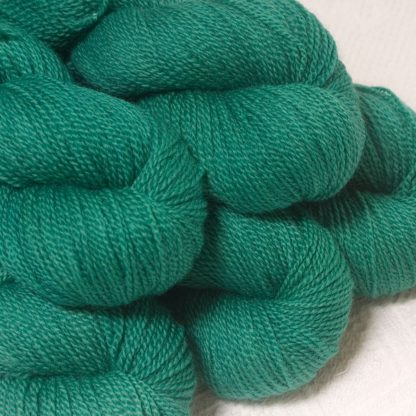 Fionnuala - Light to mid-tone teal green Bluefaced Leicester sport weight yarn hand-dyed by Triskelion Yarns