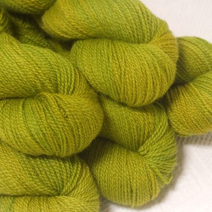 Frea - Light spring green Bluefaced Leicester sport weight yarn hand-dyed by Triskelion Yarns