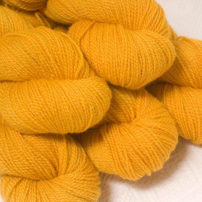 Lleu - Light golden yellow Bluefaced Leicester sport weight yarn hand-dyed by Triskelion Yarns