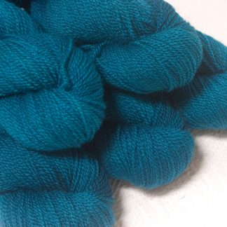 Llŷr - Deep petrol blue Bluefaced Leicester sport weight yarn hand-dyed by Triskelion Yarns