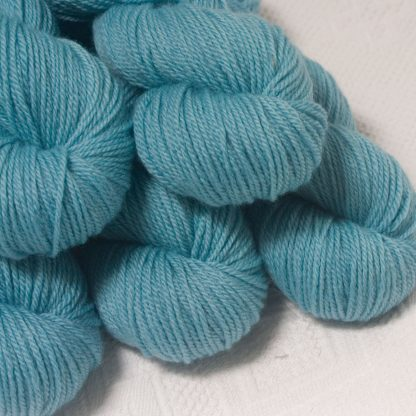 Horizon - Light sky blue Bluefaced Leicester worsted weight yarn hand-dyed by Triskelion Yarns