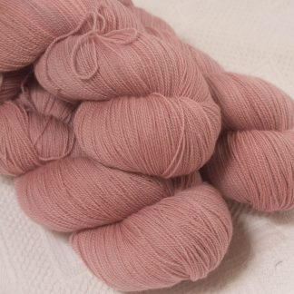 Ash Rose - Light greyish pink extra fine Falklands Merino 2-ply laceweight yarn hand-dyed by Triskelion Yarn