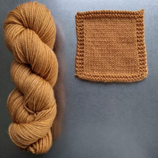 Anemone - Light orange with a yellow undertone Bluefaced Leicester worsted weight yarn hand-dyed by Triskelion Yarn