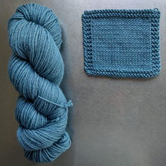 Horizon - Light azure Bluefaced Leicester worsted weight yarn hand-dyed by Triskelion Yarn