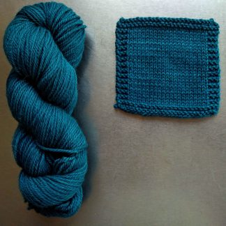 Llŷr - Dark turquoise blue Bluefaced Leicester worsted weight yarn hand-dyed by Triskelion Yarn