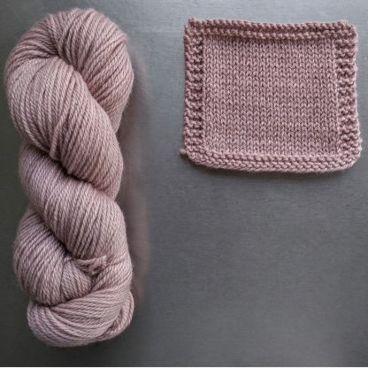 Seashell - Pale shell pink Bluefaced Leicester worsted weight yarn hand-dyed by Triskelion Yarn