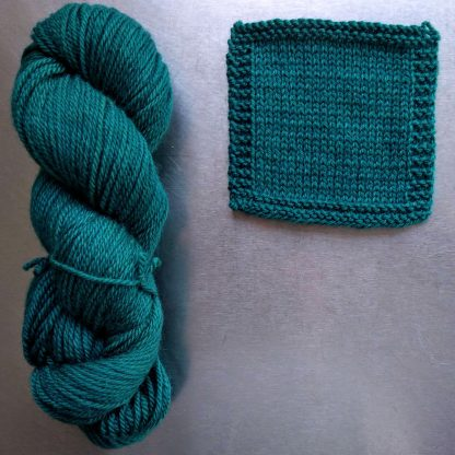 Transitional Environment - Dark turquoise green Bluefaced Leicester worsted weight yarn hand-dyed by Triskelion Yarn
