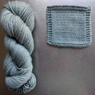 Westerly - Pale aqua grey Bluefaced Leicester worsted weight yarn hand-dyed by Triskelion Yarn