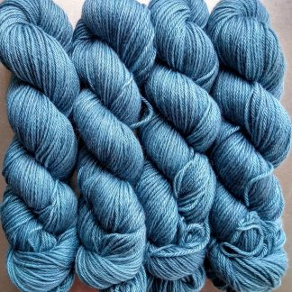 Horizon - Light azure blue Baby Alpaca Silk & Cashmere double-knit yarn. Hand-dyed by Triskelion Yarn.