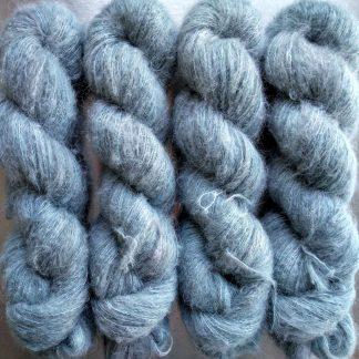 Westerly - A pale aqua grey suri alpaca and silk luxury heavy laceweight yarn. Hand-dyed by Triskelion Yarn