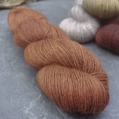 My Foxy Darling - Mid-toned rusty, foxy orange-brown baby alpaca 4-ply/fingering/sock yarn. Hand-dyed by Triskelion Yarn