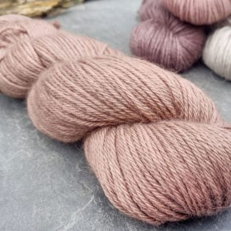 Taliesin – Light warm taupe with a fawn undertone baby alpaca double knit (DK) yarn. Hand-dyed by Triskelion Yarn