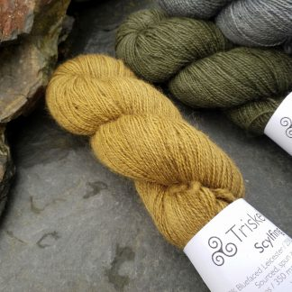 Shore - Light, sandy brown Bluefaced Leicester (BFL) / Gotland / Wensleydale 4-ply (fingering) weight high-twist sock yarn. Hand-dyed by Triskelion Yarn