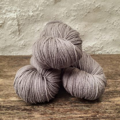 Driftwood - Light to mid-tone taupe/warm grey 4-ply/fingering Peruvian Highland wool sock yarn. Hand-dyed by Triskelion Yarn.