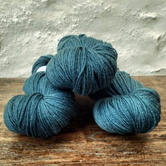 Kraken - Dark aqua-green-grey 4-ply/fingering Peruvian Highland wool sock yarn. Hand-dyed by Triskelion Yarn.