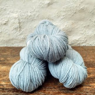 Rainwashed – Pale aqua green 4-ply/fingering Peruvian Highland wool sock yarn. Hand-dyed by Triskelion Yarn.
