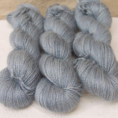 Baby Alpaca, silk and linen sport weight yarn. Hand-dyed by Triskelion Yarn.