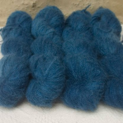 Arawn - Semi-solid to solid deep royal blue suri alpaca and silk luxury heavy laceweight yarn. Hand-dyed by Triskelion Yarn