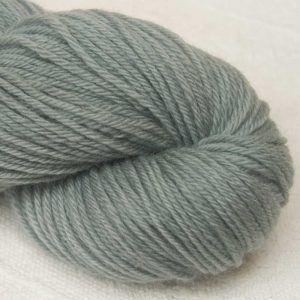 Brilliantined Trout - Mid-toned sea grey organic Merino DK/ Double Knit yarn. Hand-dyed by Triskelion Yarn