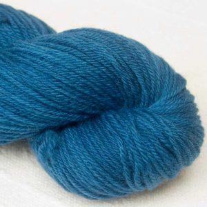 Fishingboatbobbing Sea - Semi-solid dark blue, with cobalt, sea iblue and dark grey tones organic Merino DK/ Double Knit yarn. Hand-dyed by Triskelion Yarn