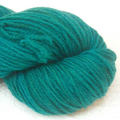 Grendel - Dark bluish-green organic Merino DK/ Double Knit yarn. Hand-dyed by Triskelion Yarn