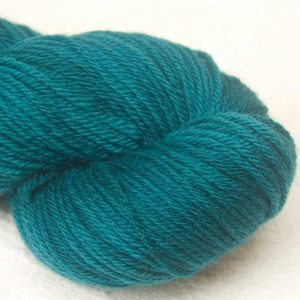 Mermen and Whales - Semi-solid dark blue-green, with turquoise and grey tones organic Merino DK/ Double Knit yarn. Hand-dyed by Triskelion Yarn