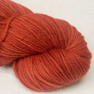 My Foxy Darling - Mid-toned rusty, foxy orange-brown organic Merino DK/ Double Knit yarn. Hand-dyed by Triskelion Yarn