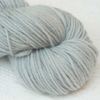 Spittingcat Kettle - Semi-solid light to mid surf grey, with sea green and turquoise tones organic Merino DK/ Double Knit yarn. Hand-dyed by Triskelion Yarn