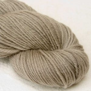 Weedkiller Biscuit - Pale warm grey organic Merino DK/ Double Knit yarn. Hand-dyed by Triskelion Yarn