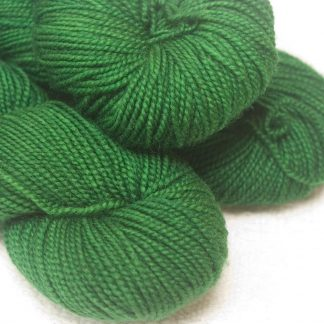 Sward - Mid-toned green superwash Bluefaced Leicester (BFL) 4-ply/fingering/sock yarn. Hand-dyed by Triskelion Yarn