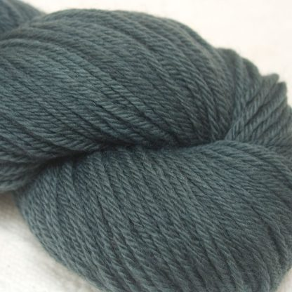 Dark Shark - Dark sea grey green organic Merino DK/ Double Knit yarn. Hand-dyed by Triskelion Yarn