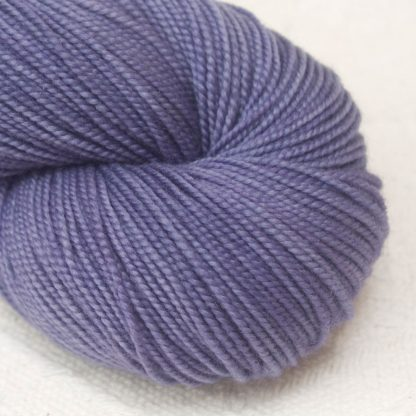 Lavender - Mid-toned violet extra fine Merino 4-ply / fingering weight yarn. Hand-dyed by Triskelion Yarn.