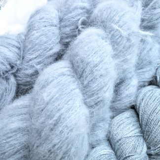 Indigo - Indigo blue suri alpaca and silk luxury heavy laceweight yarn. Hand-dyed by Triskelion Yarn