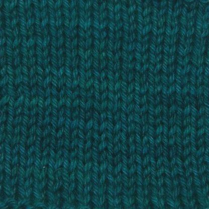 Arfor - Dark teal Corriedale heavy DK/worsted weight yarn. Hand-dyed by Triskelion Studio.