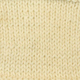 Buttermilk - Pale cream Corriedale heavy DK/worsted weight yarn. Hand-dyed by Triskelion Studio.