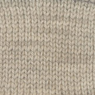 Cerrig - Pale warm grey Corriedale heavy DK/worsted weight yarn. Hand-dyed by Triskelion Studio.