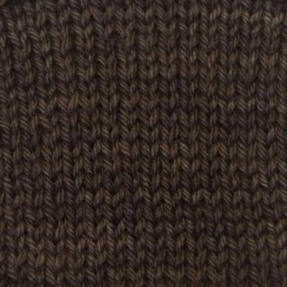 Cwrwgl - Cool dark brown Corriedale heavy DK/worsted weight yarn. Hand-dyed by Triskelion Studio.