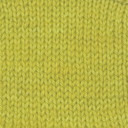 Frea - Light chartreuse/spring green Corriedale heavy DK/worsted weight yarn. Hand-dyed by Triskelion Studio.