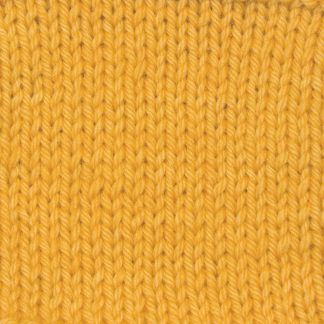 Lleu - Warm imperial yellow Corriedale heavy DK/worsted weight yarn. Hand-dyed by Triskelion Studio.