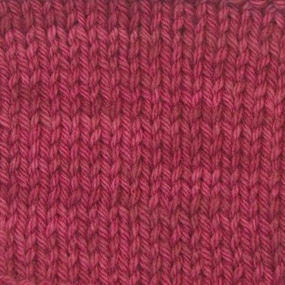Mafon - Mid-tone raspberry/rose Corriedale heavy DK/worsted weight yarn. Hand-dyed by Triskelion Studio.