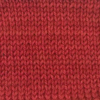 Mefus - Strawberry red Corriedale heavy DK/worsted weight yarn. Hand-dyed by Triskelion Studio.