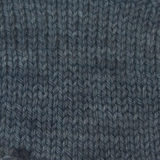 Pewter - Mid- to dark grey Corriedale heavy DK/worsted weight yarn. Hand-dyed by Triskelion Studio.