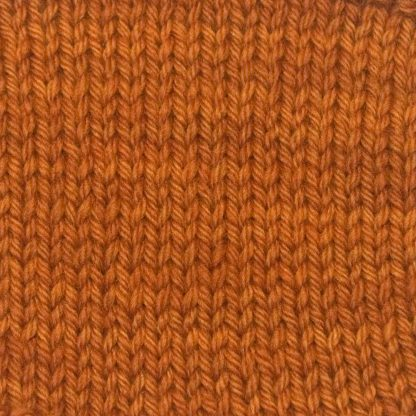 Pod - Rich orange-tan Corriedale heavy DK/worsted weight yarn. Hand-dyed by Triskelion Studio.