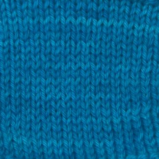 Wade - Mid-tone bright azure blue Corriedale heavy DK/worsted weight yarn. Hand-dyed by Triskelion Studio.
