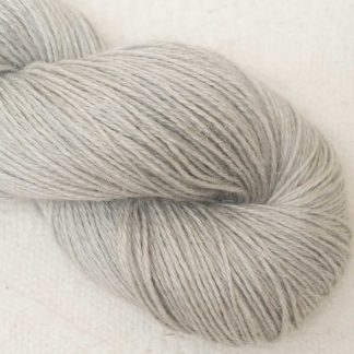 Tern - Pale cool grey Baby Alpaca, silk and linen 4-ply yarn. Hand-dyed by Triskelion Yarn.