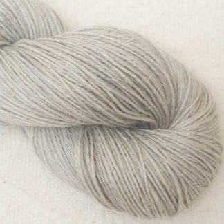 Tern - Pale cool grey Baby Alpaca, silk and linen 4-ply yarn. Hand-dyed by Triskelion Yarn.