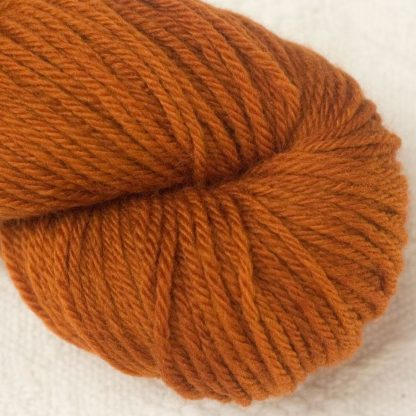 Ginger Corriedale heavy DK/worsted weight yarn. Hand-dyed by Triskelion Studio.