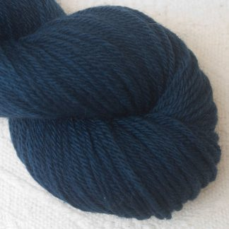 Penumbral - Cool navy blue Corriedale heavy DK/worsted weight yarn. Hand-dyed by Triskelion Studio.